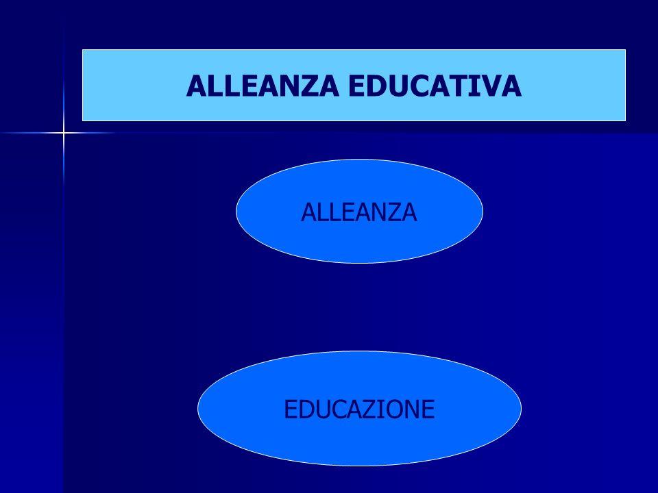 ALLEANZA EDUCAZIONE ALLEANZA EDUCATIVA