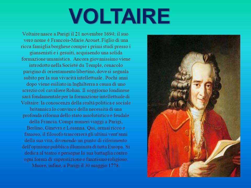 In particolare Montesquieu è noto per lopera L'esprit des loix, lo spirito delle leggi. Questo trattato storico, giuridico e politico è un esame compa