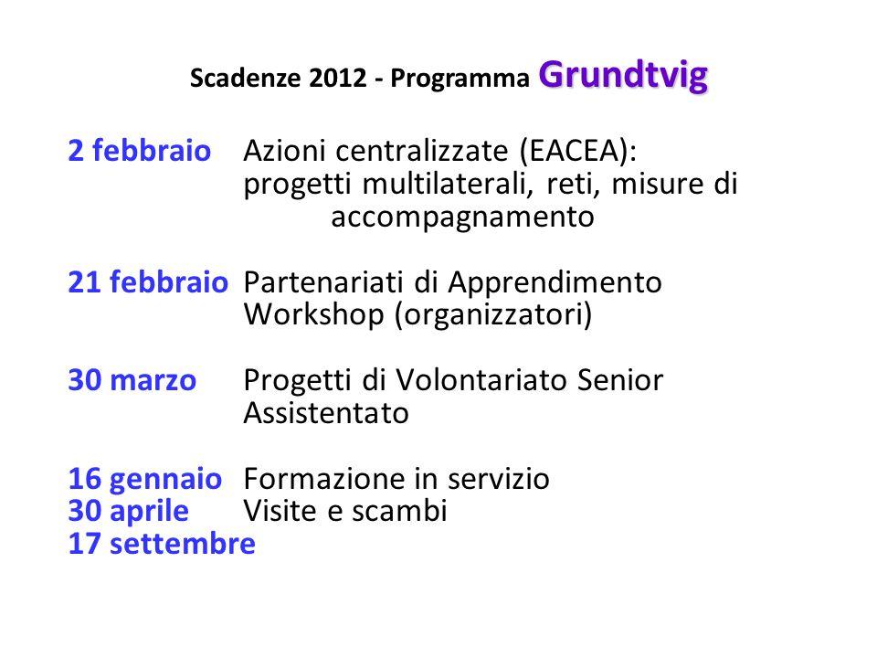 2 febbraioAzioni centralizzate (EACEA): progetti multilaterali, reti, misure di accompagnamento 21 febbraioPartenariati di Apprendimento Workshop (org