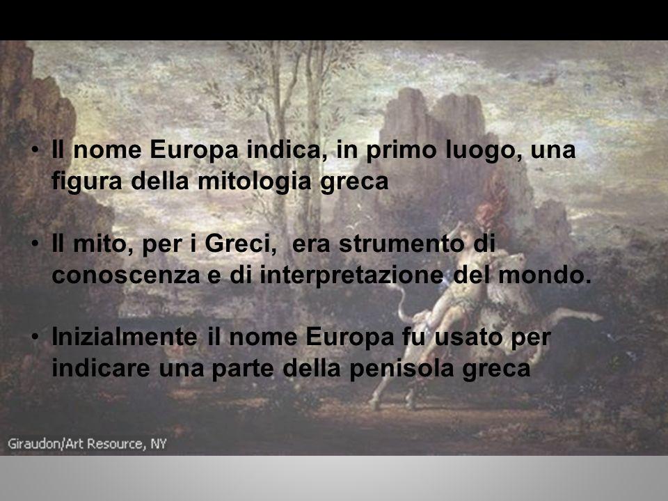 Quando è nata lEuropa.