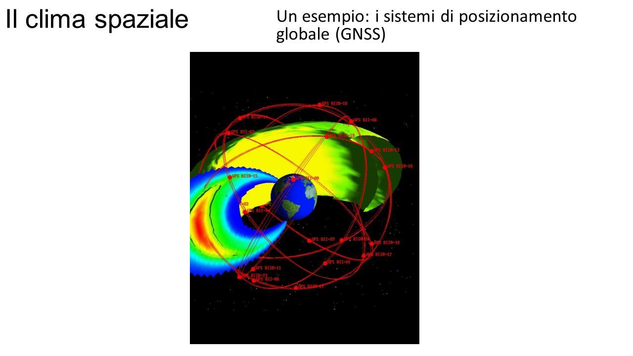 Il clima spaziale Un esempio: i sistemi di posizionamento globale (GNSS)