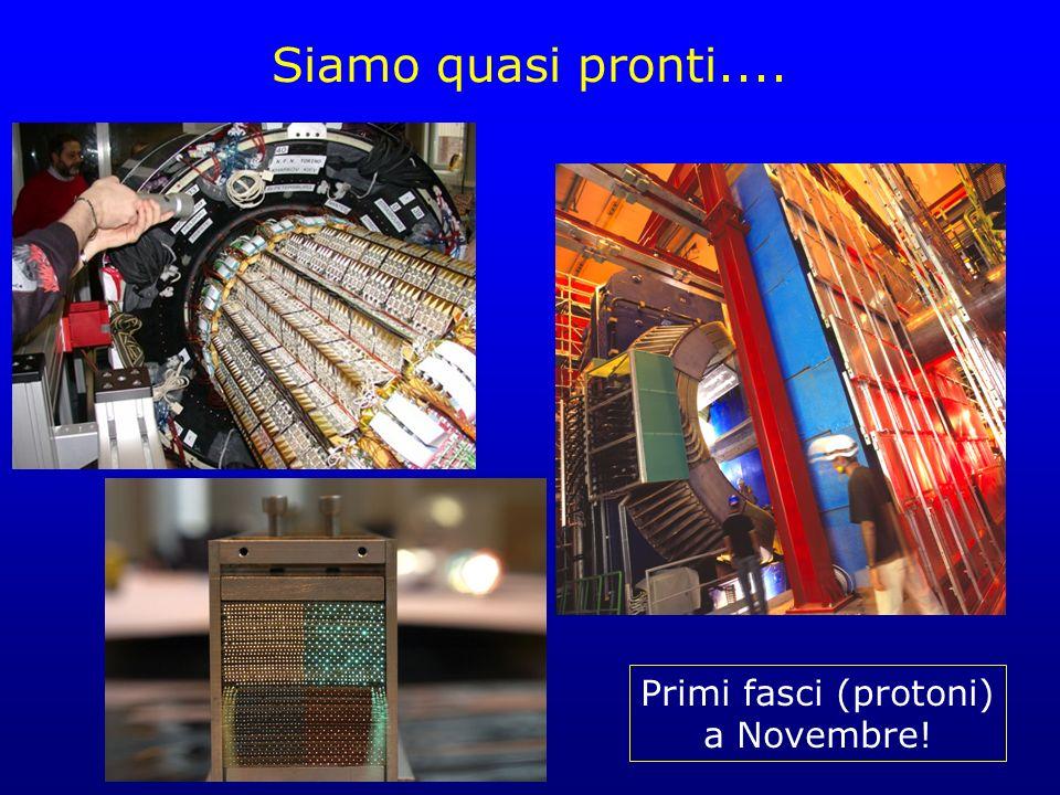 Siamo quasi pronti.... Primi fasci (protoni) a Novembre!