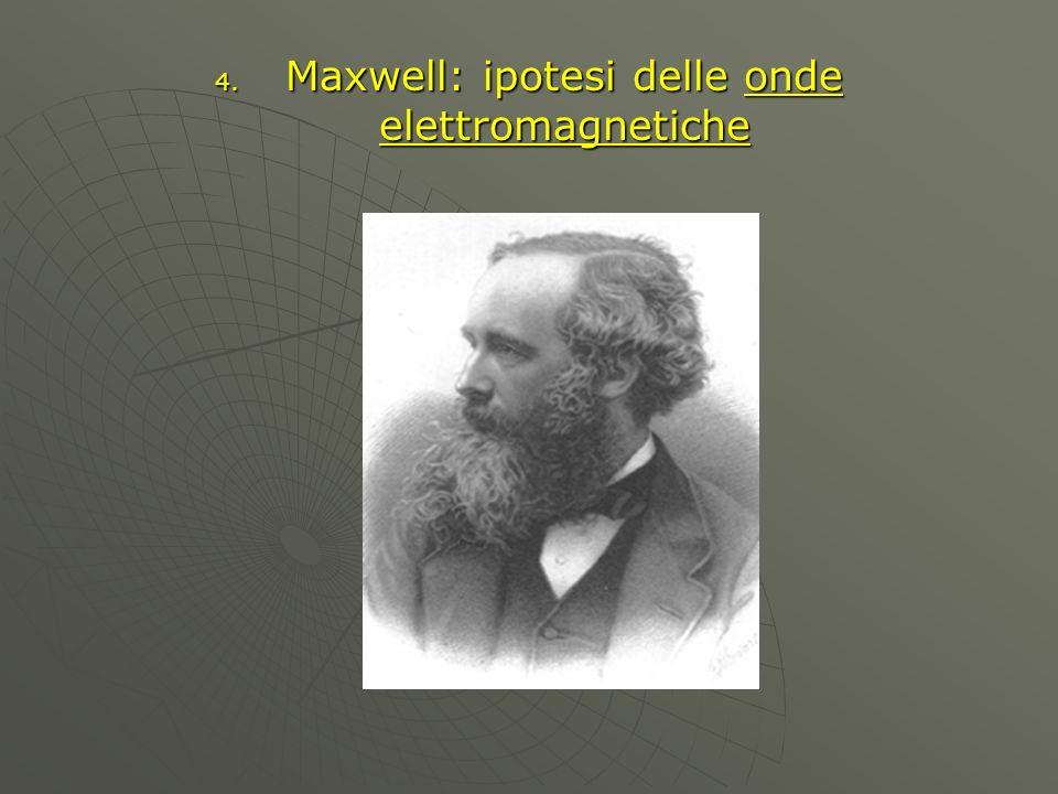 4. Maxwell: ipotesi delle onde elettromagnetiche