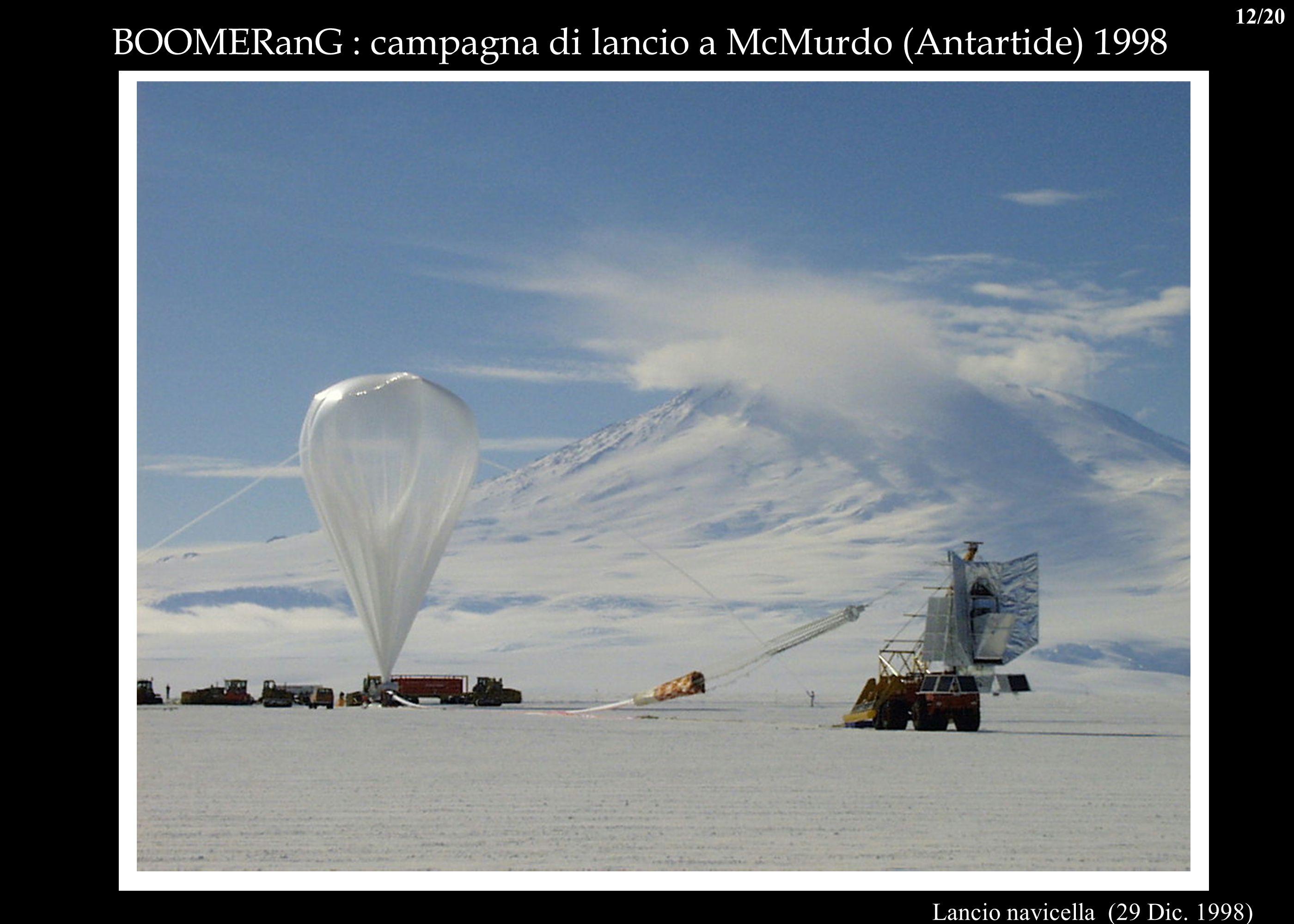 BOOMERanG : campagna di lancio a McMurdo (Antartide) 1998 Lancio navicella (29 Dic. 1998) 12/20