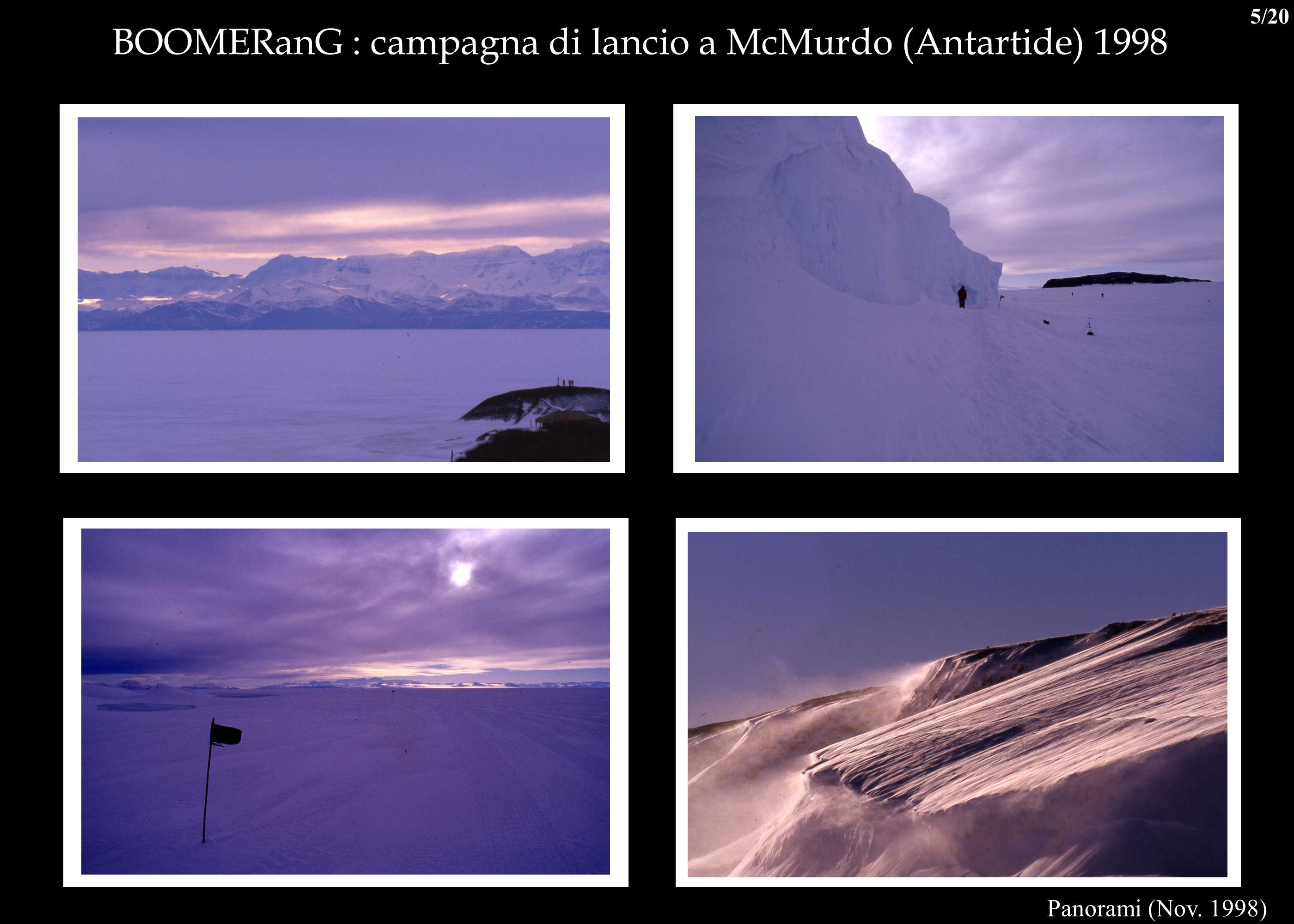 BOOMERanG : campagna di lancio a McMurdo (Antartide) 1998 Panorami (Nov. 1998) 5/20