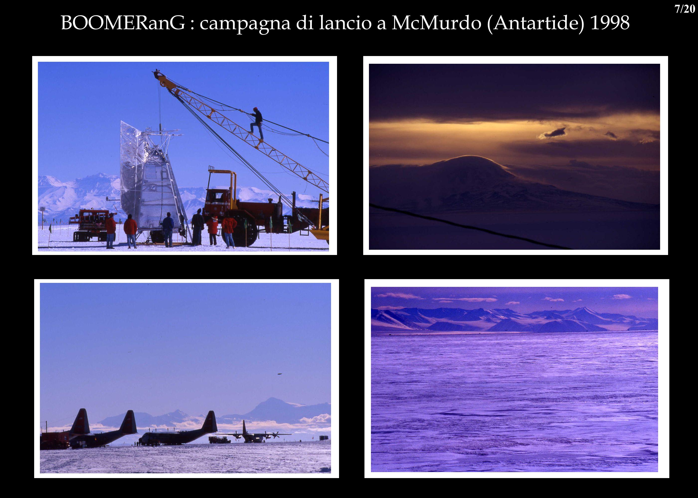 BOOMERanG : campagna di lancio a McMurdo (Antartide) 1998 7/20