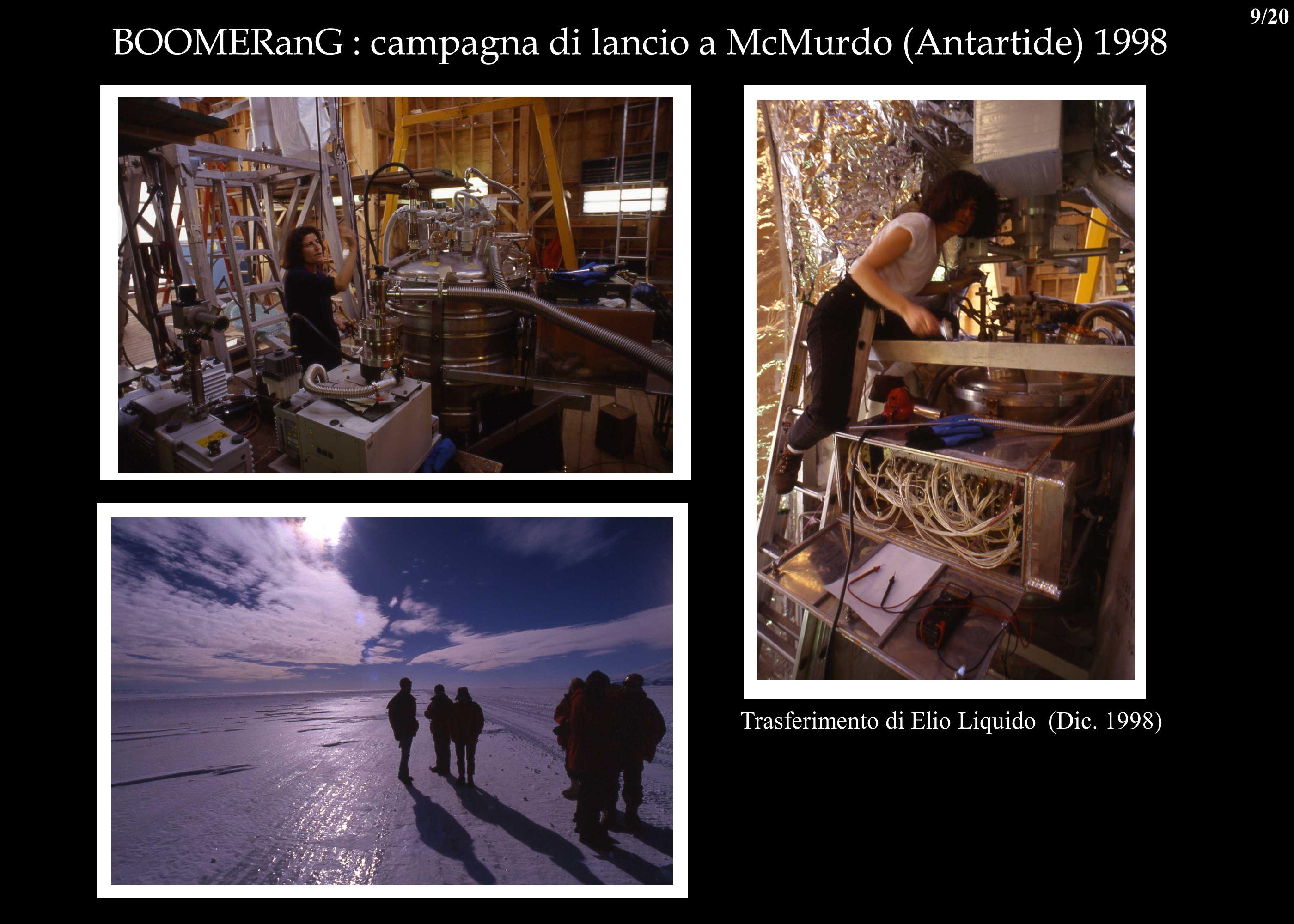 BOOMERanG : campagna di lancio a McMurdo (Antartide) 1998 Trasferimento di Elio Liquido (Dic. 1998) 9/20
