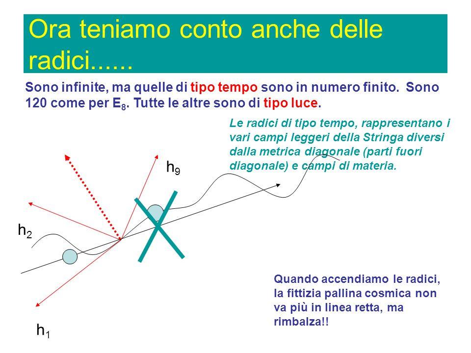 Abbiamo E 9 ! Ma come? Più di 8 vettori non si possono impaccare in un spazio euclideo ad angoli di 120 gradi ! Già! Euclideo!! Ma non euclideo si può