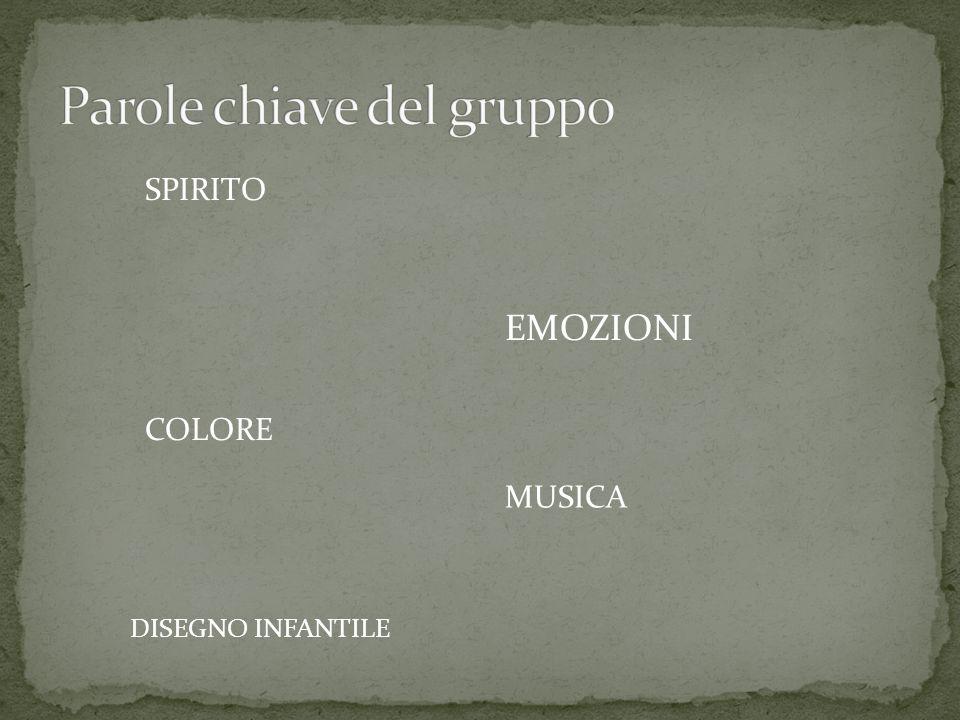 SPIRITO EMOZIONI COLORE MUSICA DISEGNO INFANTILE