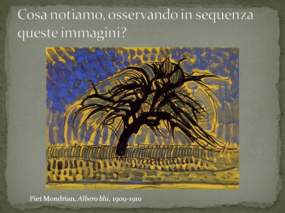 Piet Mondrian, Albero blu, 1909-1910
