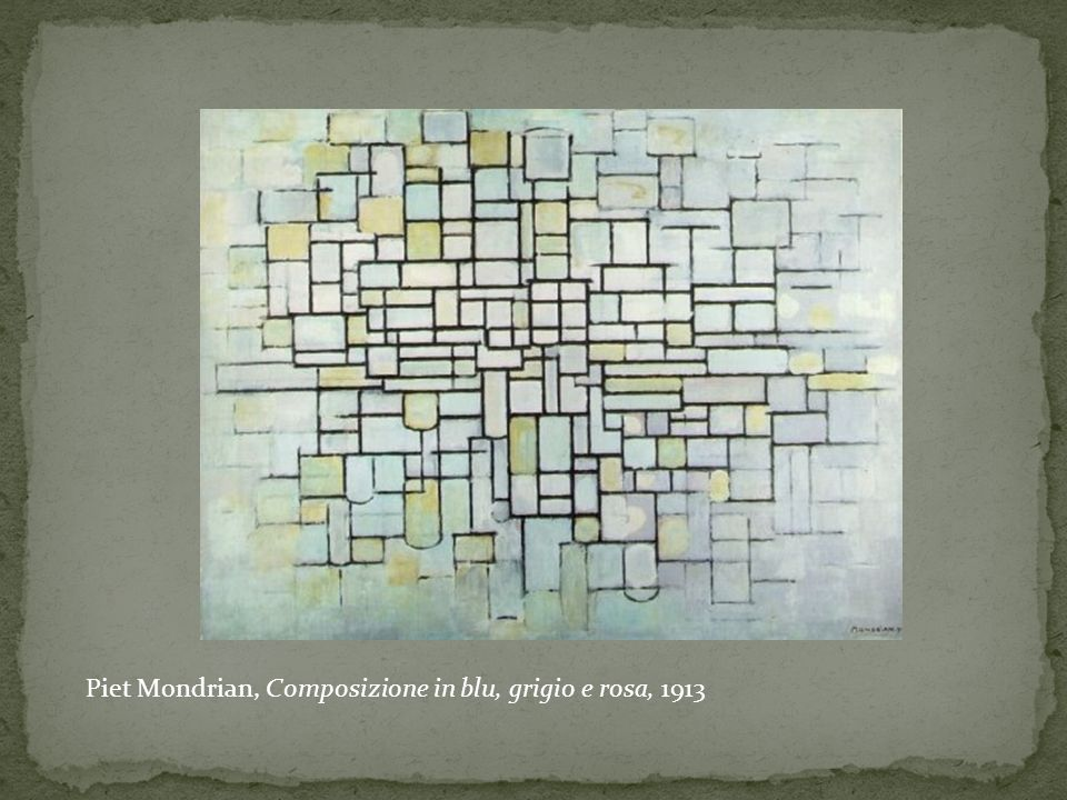 Piet Mondrian, Composizione in blu, grigio e rosa, 1913