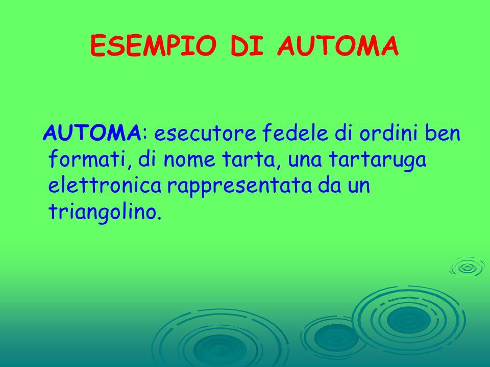 ATTIVITA 1 Attraverso lattività ludica in palestra, fare acquisire ai bambini il concetto di automa e il linguaggio da utilizzare per fornire comandi alla tartaruga.
