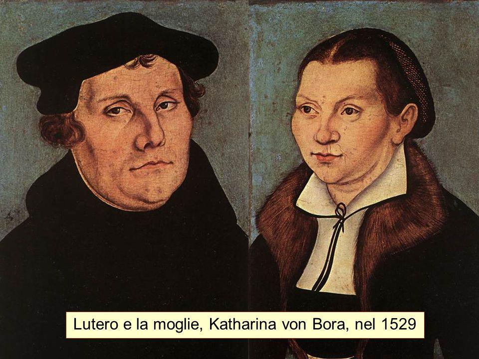 Lutero e la moglie, Katharina von Bora, nel 1529