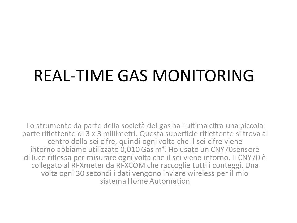 REAL-TIME GAS MONITORING Real-time Gas Monitoring.