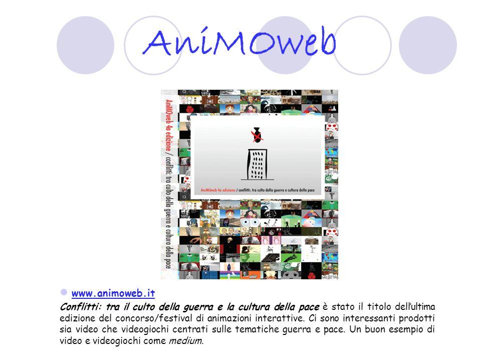 AniMOweb www.animoweb.it Conflitti: tra il culto della guerra e la cultura della pace è stato il titolo dellultima edizione del concorso/festival di a