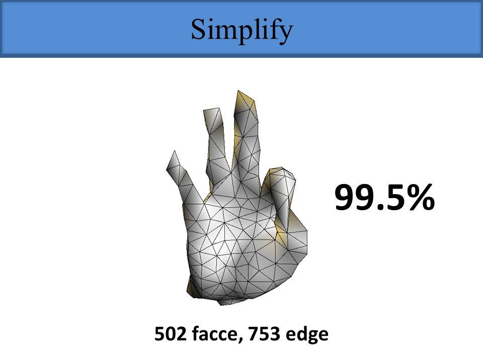 Simplify 99.5% 502 facce, 753 edge