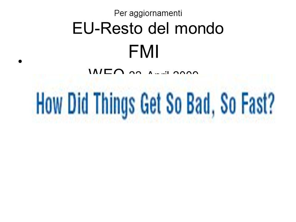 FMI WEO 22 April 2009 Per aggiornamenti EU-Resto del mondo