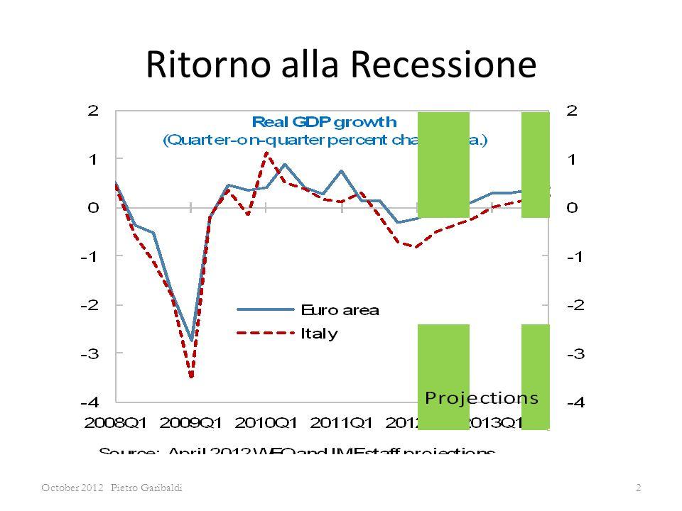 Ritorno alla Recessione October 2012 Pietro Garibaldi2