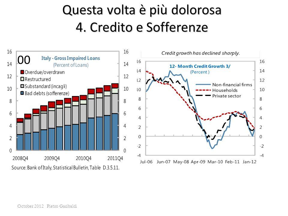 October 2012 Pietro Garibaldi Questa volta è più dolorosa 4. Credito e Sofferenze 00