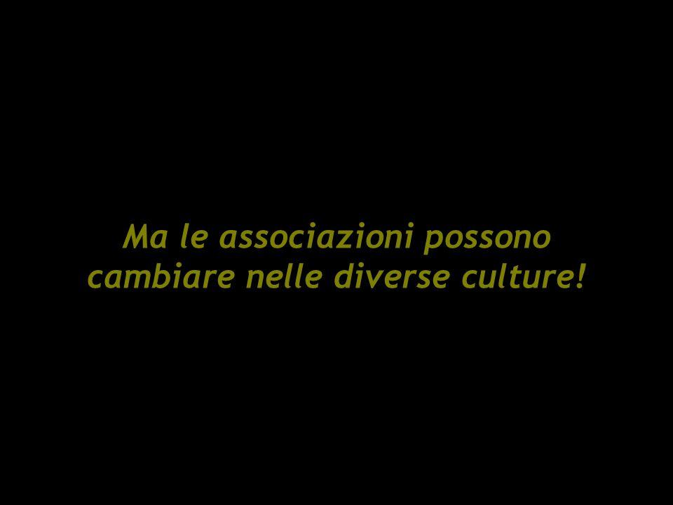 Ma le associazioni possono cambiare nelle diverse culture!