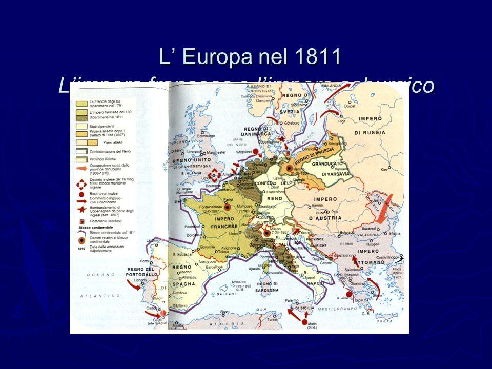 L Europa nel 1811 Limpero francese e limpero asburgico L Europa nel 1811 Limpero francese e limpero asburgico