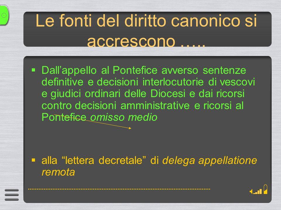 Le fonti del diritto canonico si accrescono …..