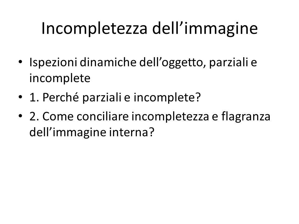 Incompletezza dellimmagine Ispezioni dinamiche delloggetto, parziali e incomplete 1.