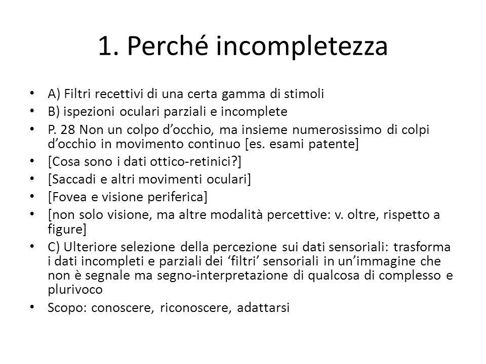 2.Incompletezza e flagranza dellimmagine interna A.
