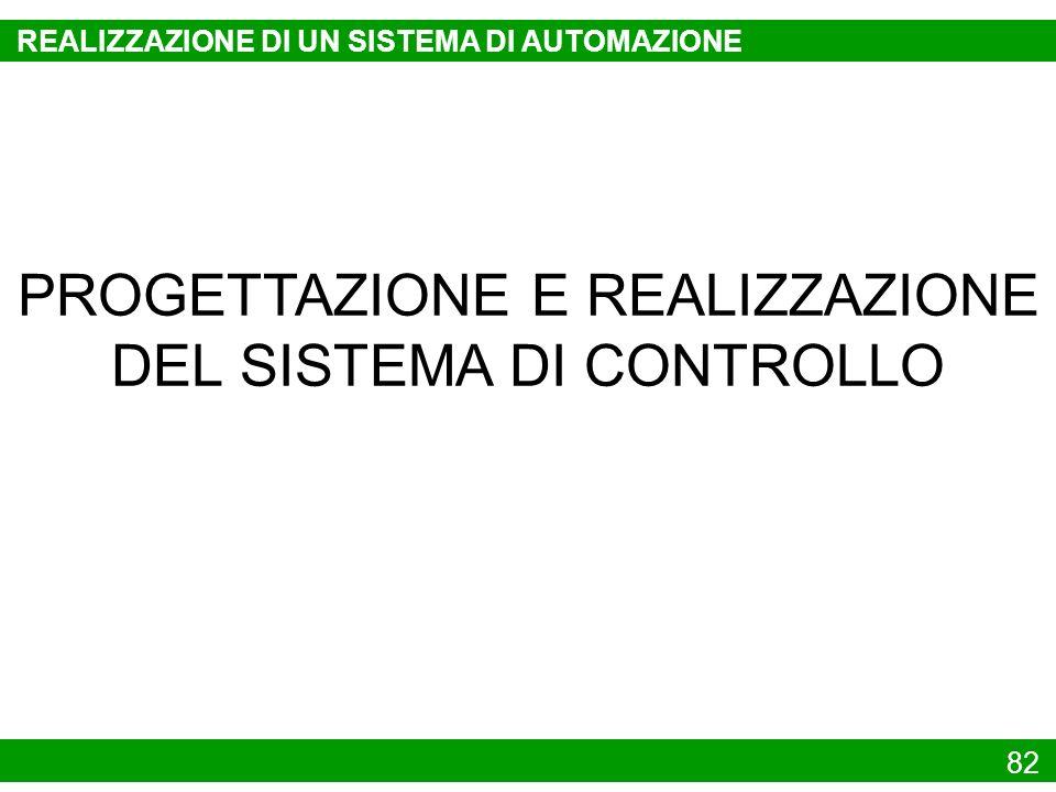 82 PROGETTAZIONE E REALIZZAZIONE DEL SISTEMA DI CONTROLLO REALIZZAZIONE DI UN SISTEMA DI AUTOMAZIONE