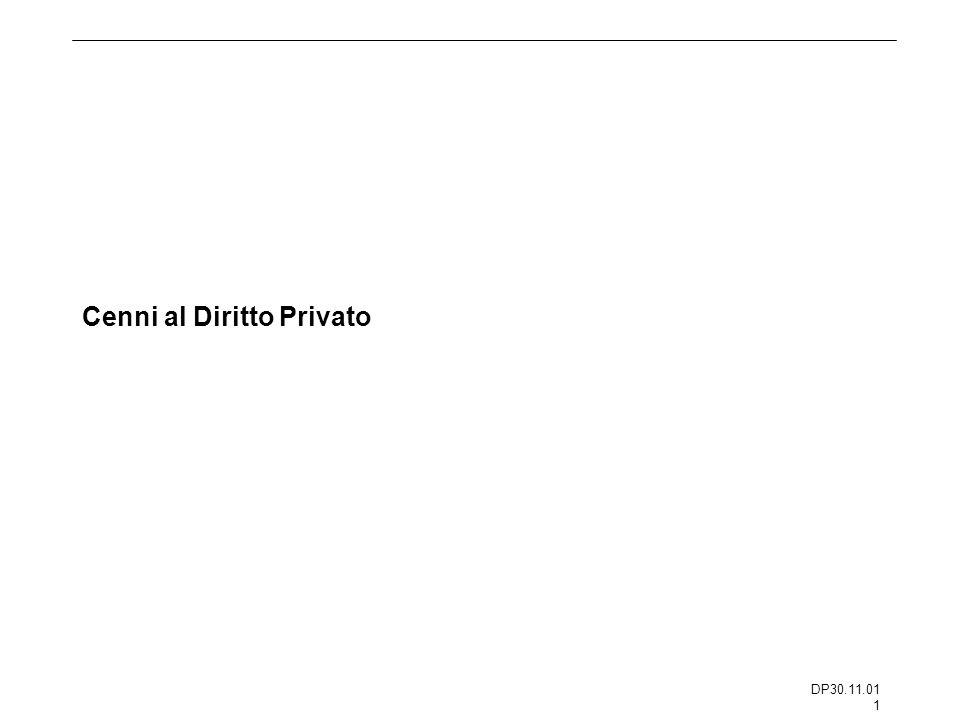 DP30.11.01 1 Cenni al Diritto Privato