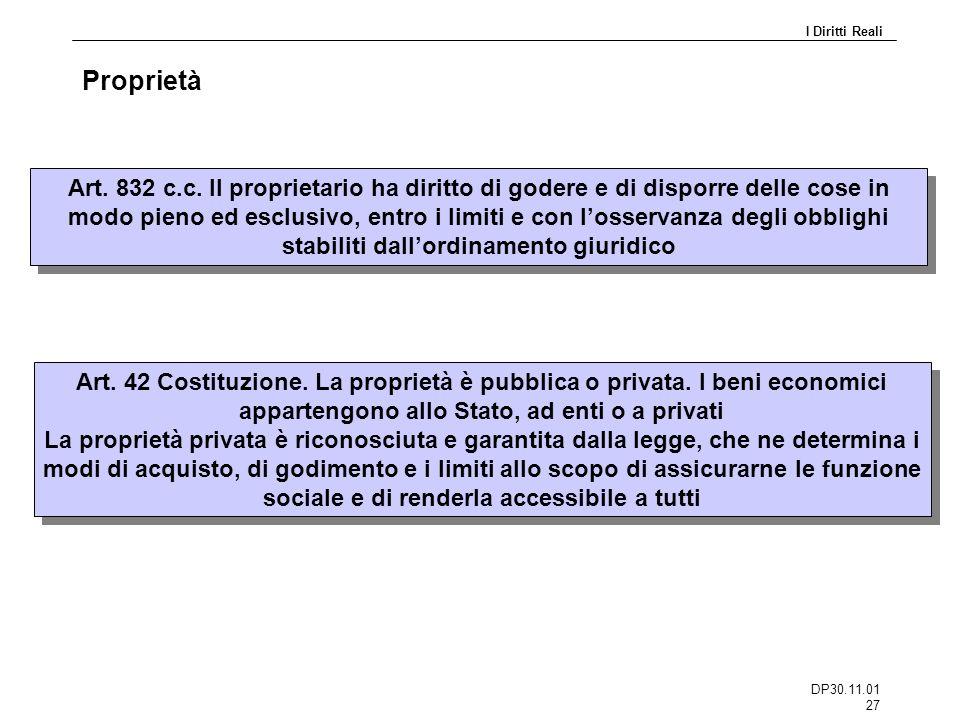 DP30.11.01 27 Proprietà I Diritti Reali Art.832 c.c.