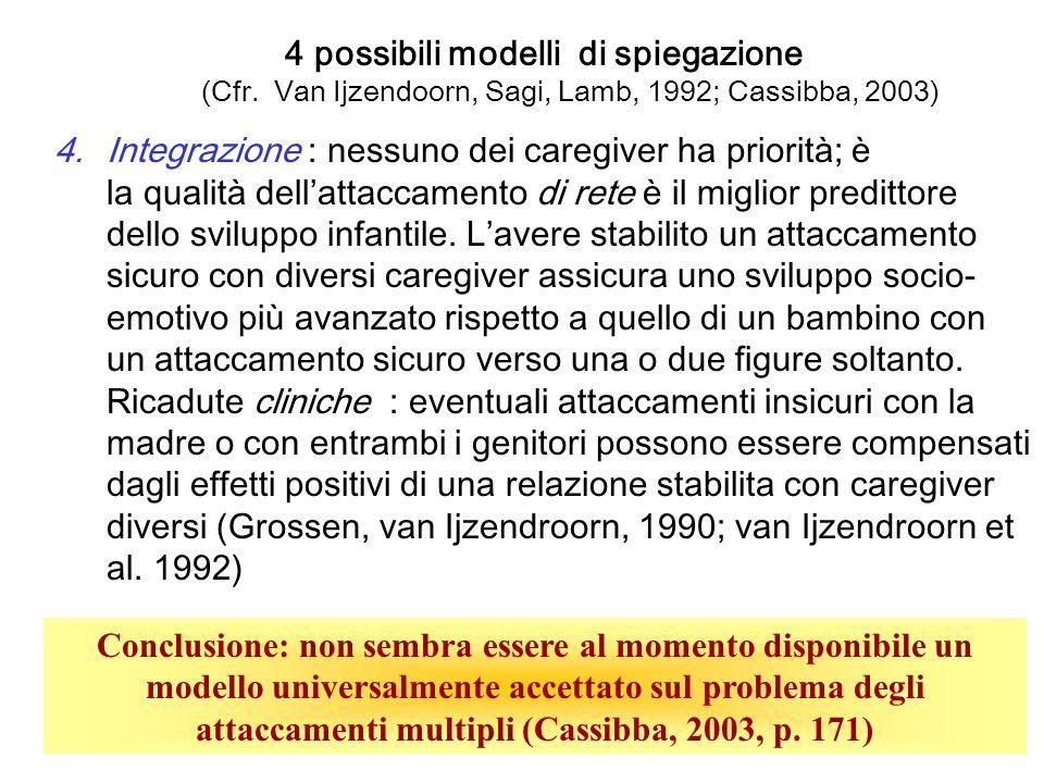 23 4 possibili modelli di spiegazione (Cfr.