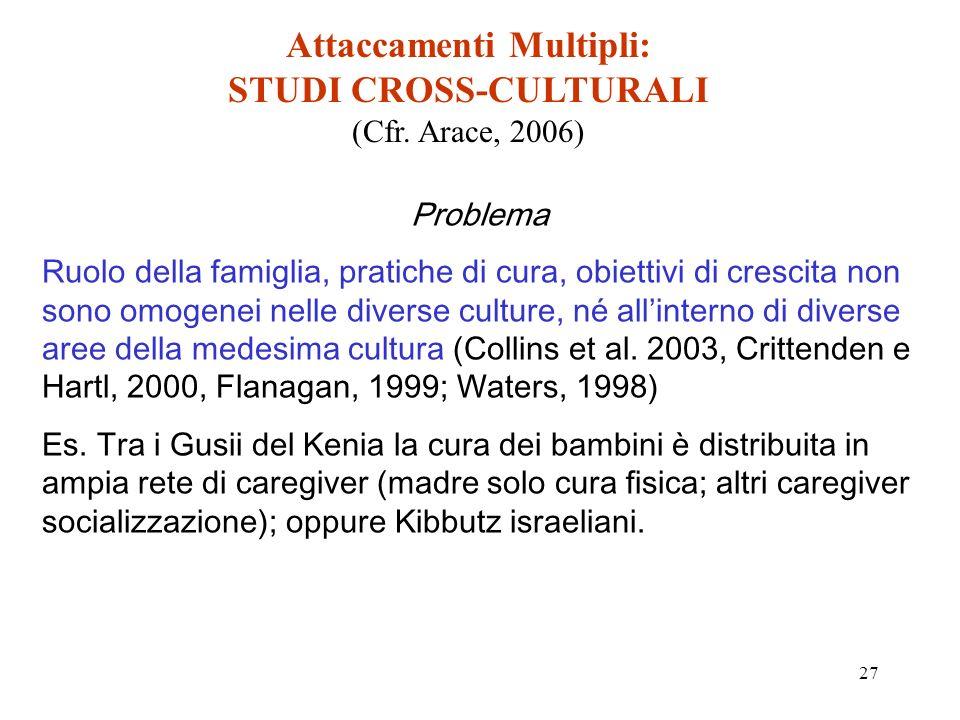 27 Attaccamenti Multipli: STUDI CROSS-CULTURALI (Cfr.