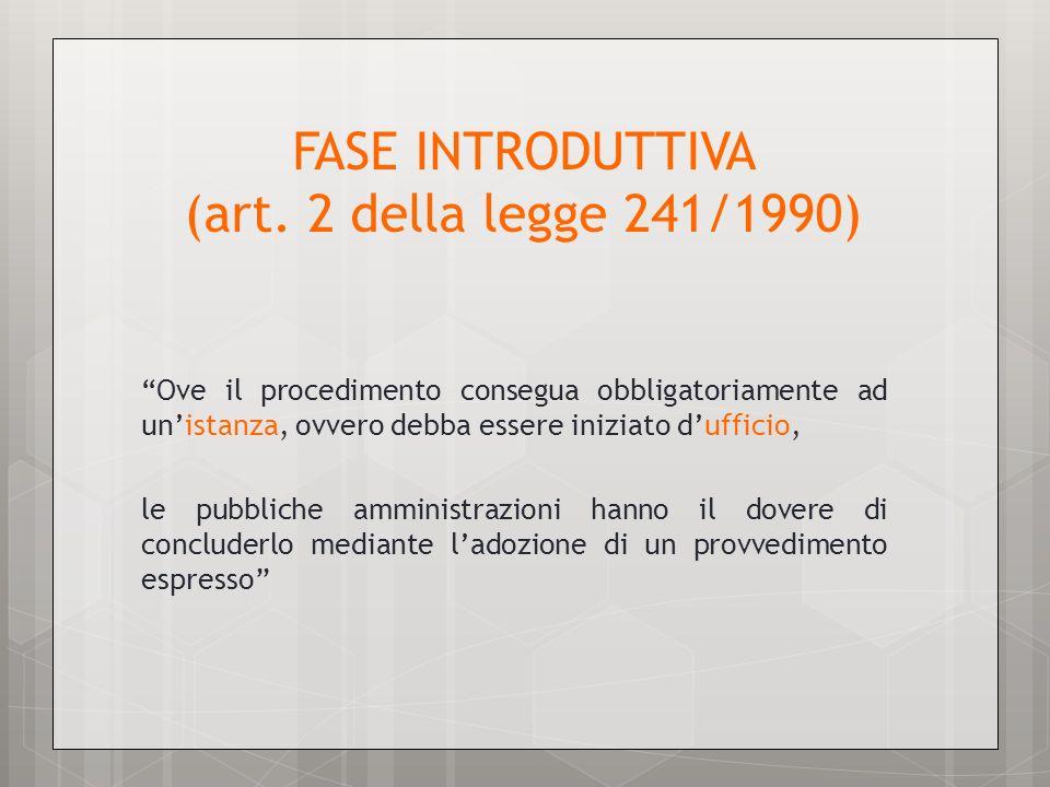 FASE INTRODUTTIVA (art.