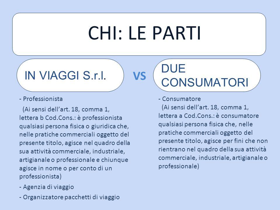 CHI: LE PARTI - Professionista (Ai sensi dellart.