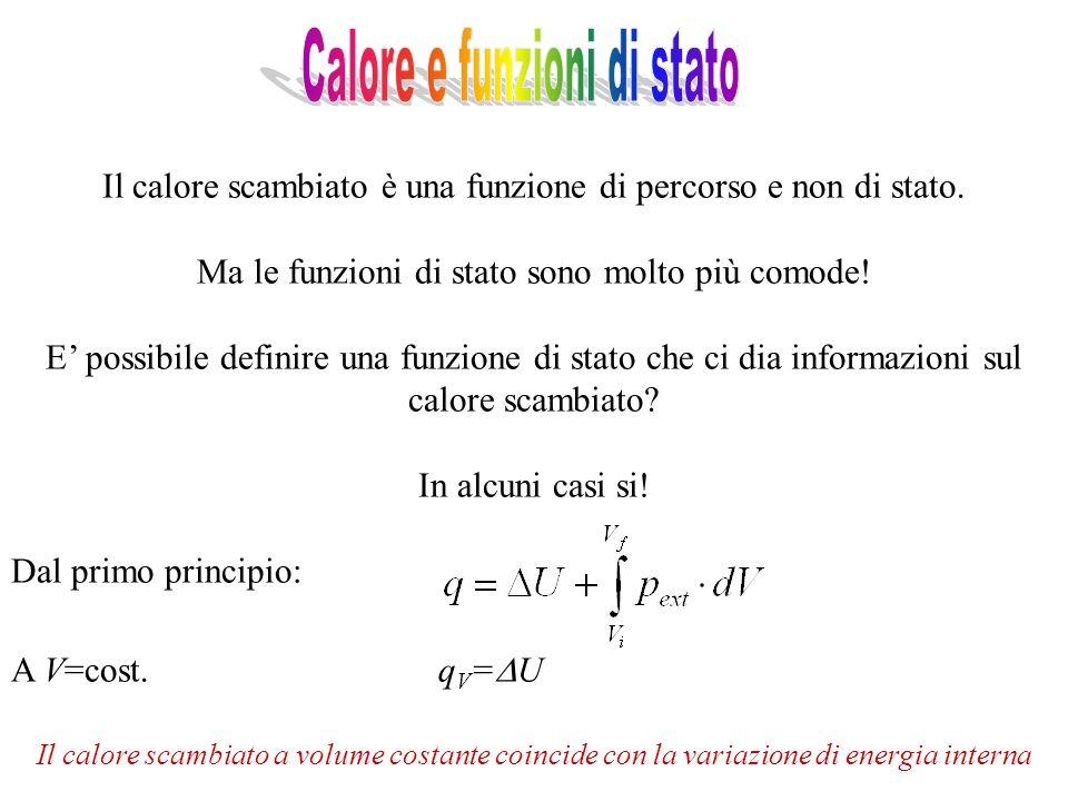 Tuttavia, in genere le reazioni avvengono a p=cost.