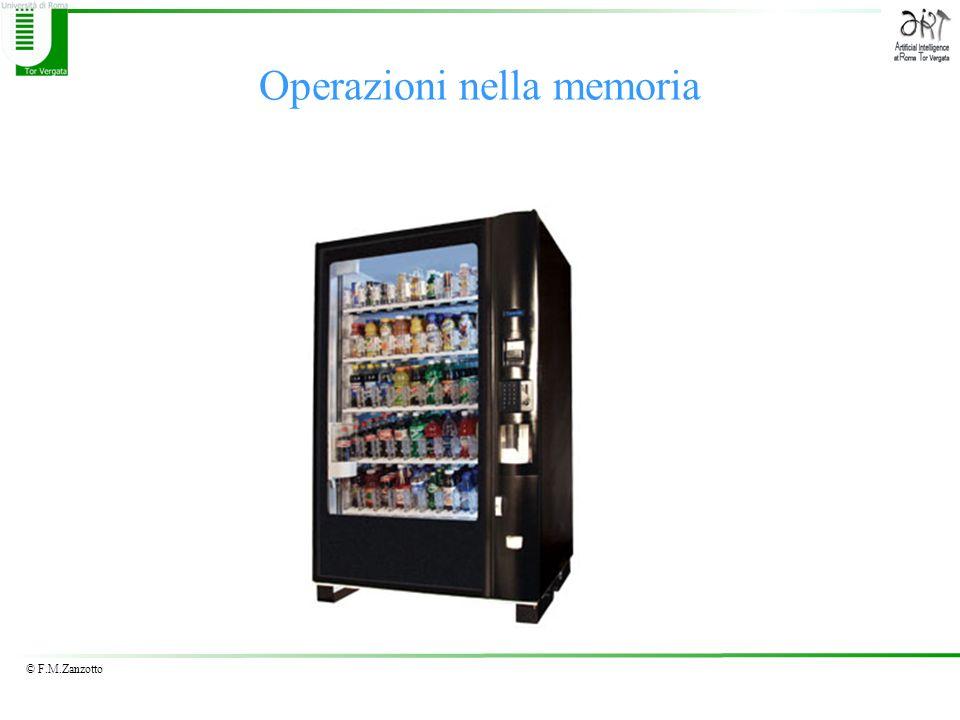 © F.M.Zanzotto Operazioni nella memoria