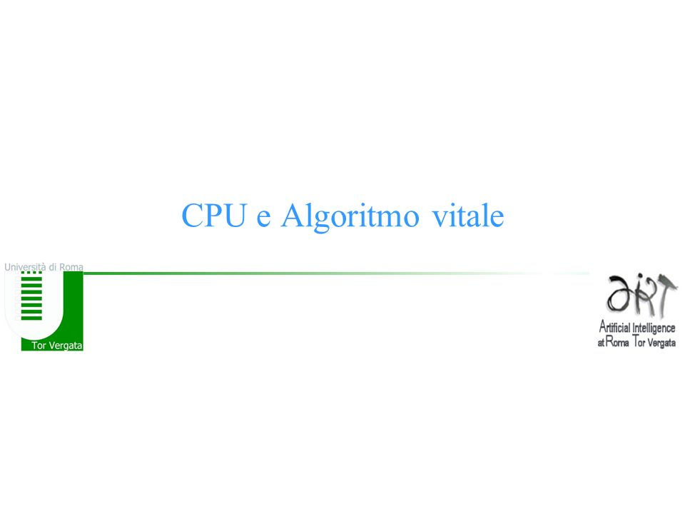 CPU e Algoritmo vitale