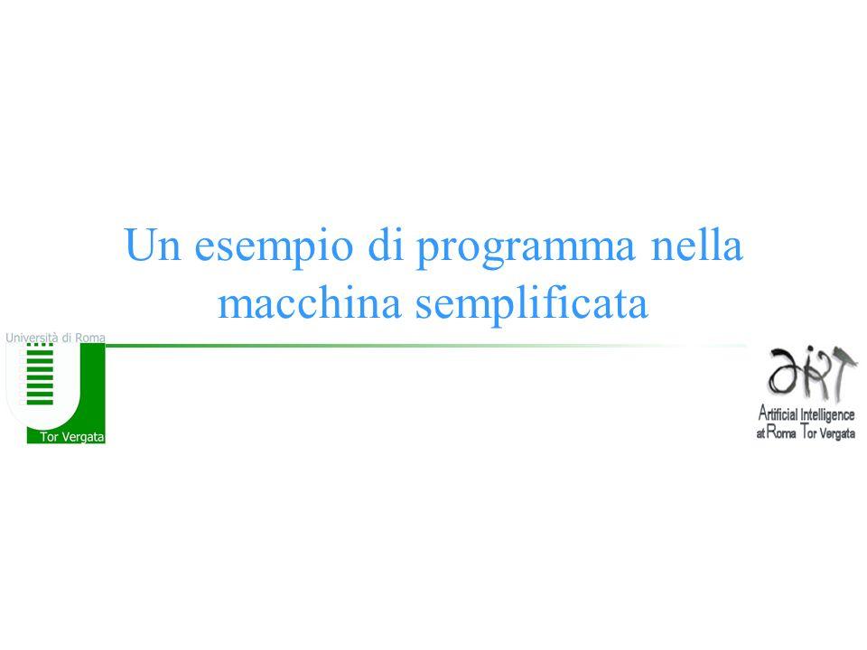 Un esempio di programma nella macchina semplificata