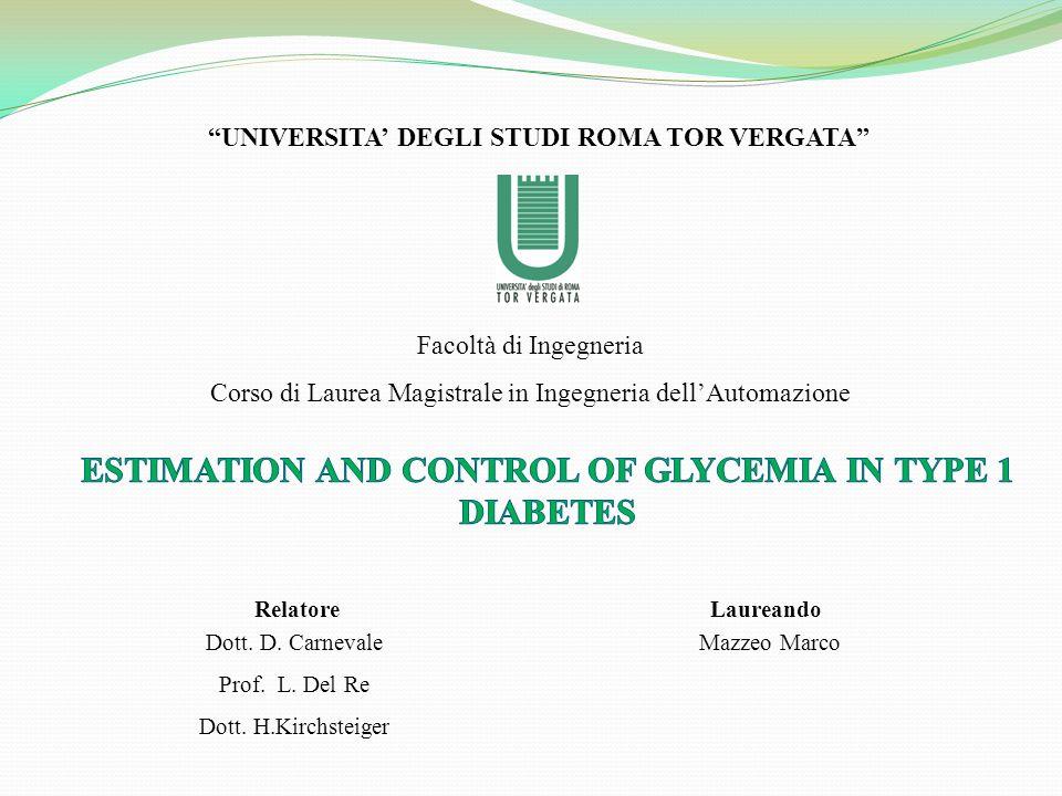 UNIVERSITA DEGLI STUDI ROMA TOR VERGATA Facoltà di Ingegneria Corso di Laurea Magistrale in Ingegneria dellAutomazione Laureando Mazzeo Marco Relatore Dott.