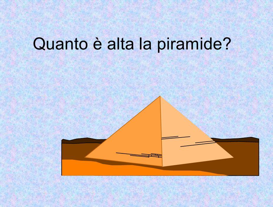 Quanto è alta la piramide?