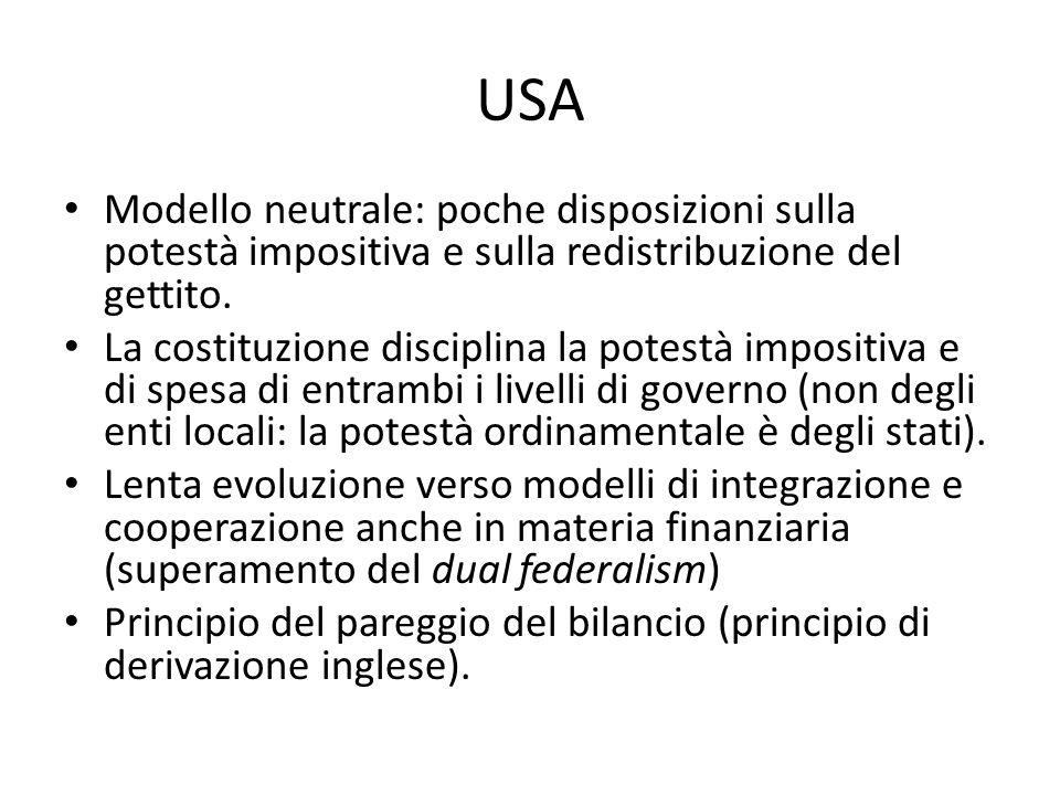 Perequazione (2) Canada: equalization grants (sez.