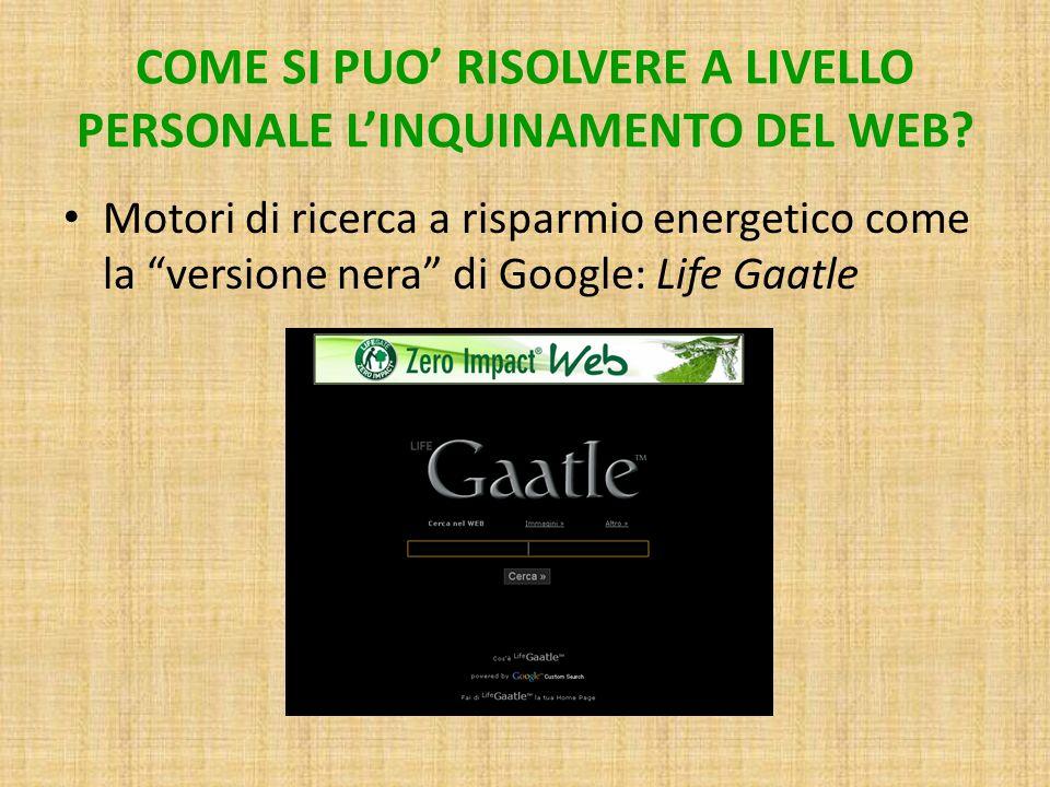 COME SI PUO RISOLVERE A LIVELLO PERSONALE LINQUINAMENTO DEL WEB.