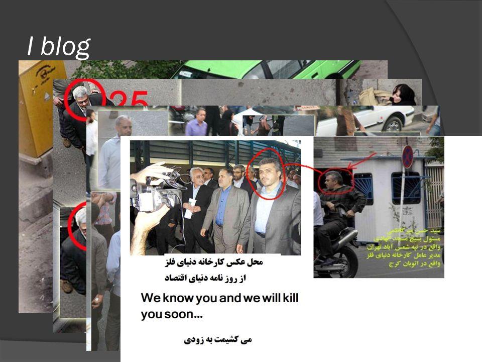 I blog Ahmadinejad - Equilibrati nelle critiche - Basso numero di connessioni col resto della blogosfera Mousavi - Anonimato degli utenti - Fortemente interconnessi tra loro e con il resto della blogosfera