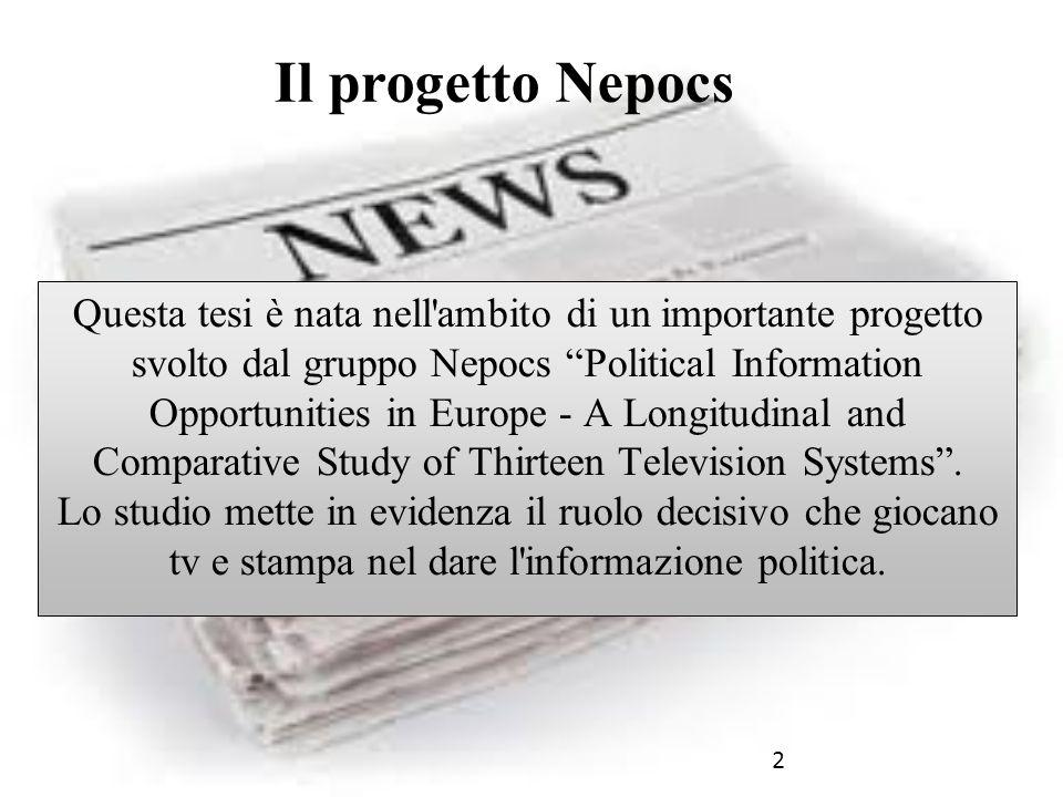 3 Il pre-test Anche il progetto Nepocs, prima di prendere il via vero e proprio, ha previsto una fase di organizzazione della rilevazione