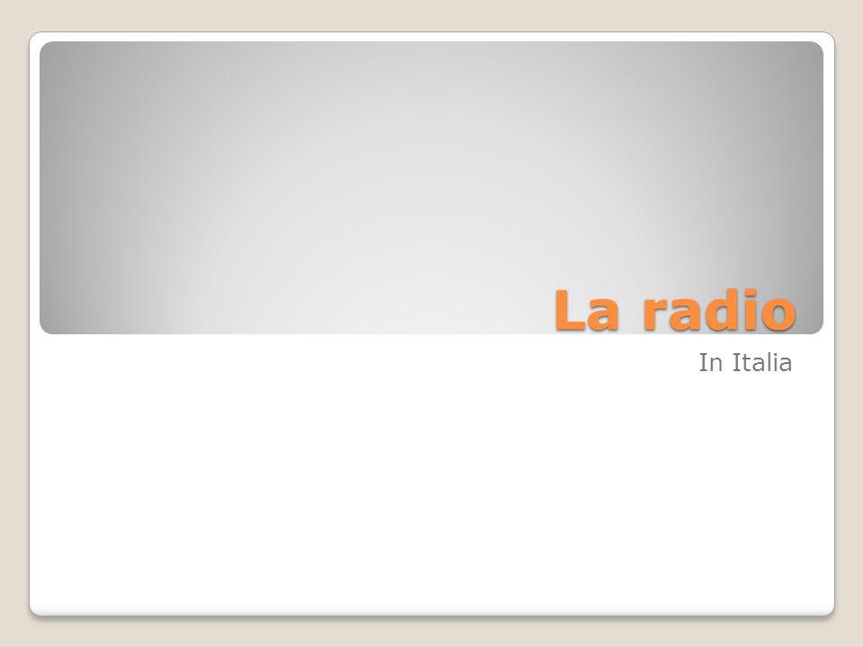La radio In Italia