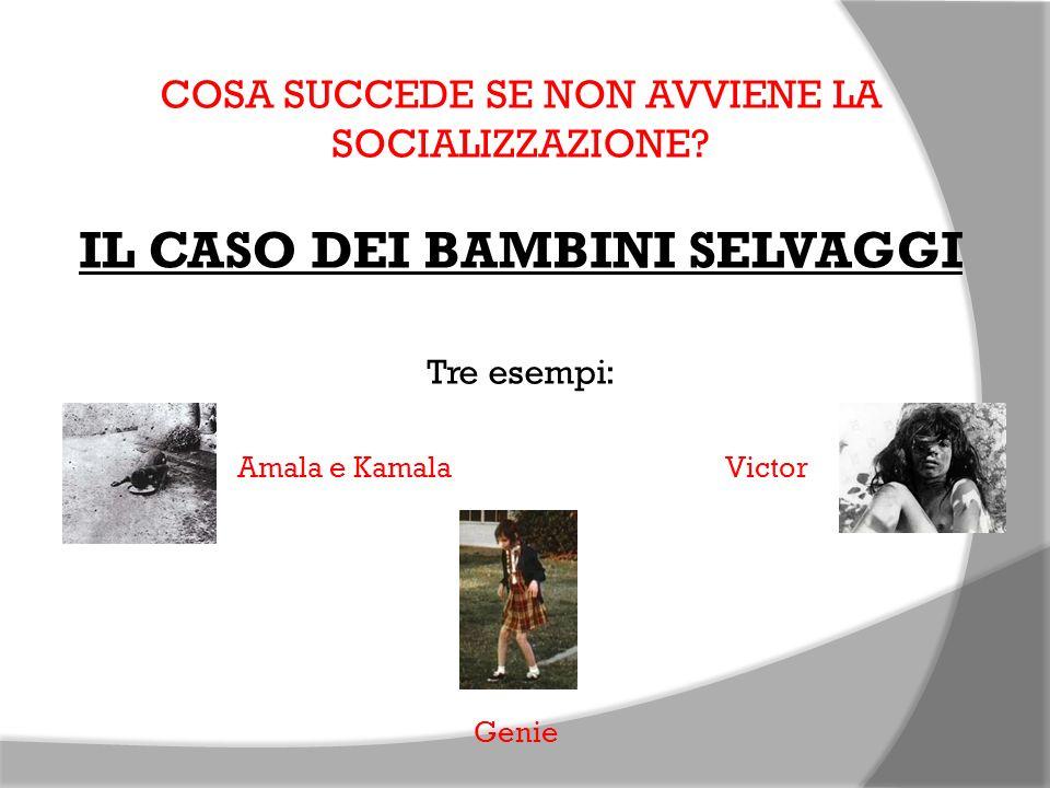 COSA SUCCEDE SE NON AVVIENE LA SOCIALIZZAZIONE? IL CASO DEI BAMBINI SELVAGGI Tre esempi: Amala e Kamala Victor Genie