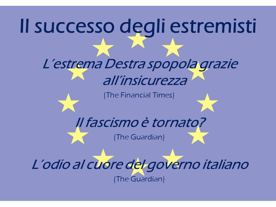 Il successo degli estremisti Lestrema Destra spopola grazie allinsicurezza (The Financial Times) Il fascismo è tornato.
