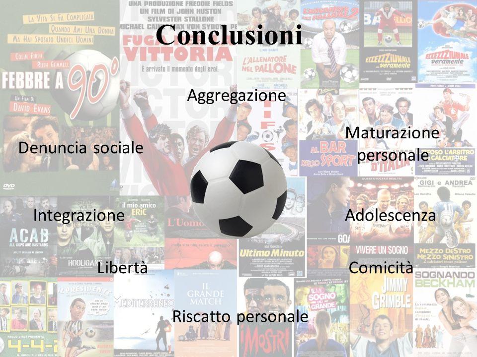 Conclusioni Riscatto personale Aggregazione Adolescenza Maturazione personale Libertà Integrazione Comicità Denuncia sociale