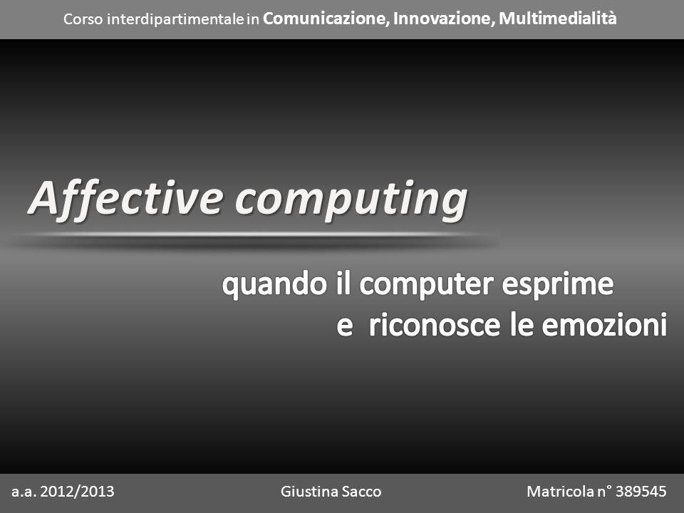 Corso interdipartimentale in Comunicazione, Innovazione, Multimedialità a.a.